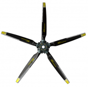 5-blade Inconel FLAIR-2 propeller, Right EASA certified